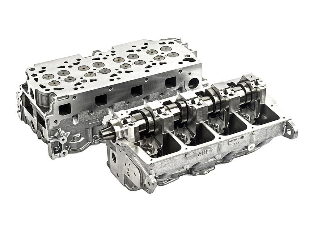 Aluminium diesel cylinder head