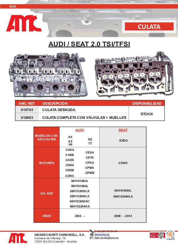 Culata Audi 2.0 TFSI