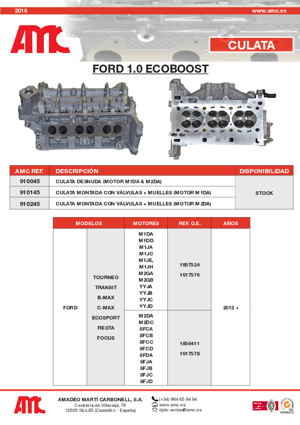 Culata Ford 1.0 Ecoboost