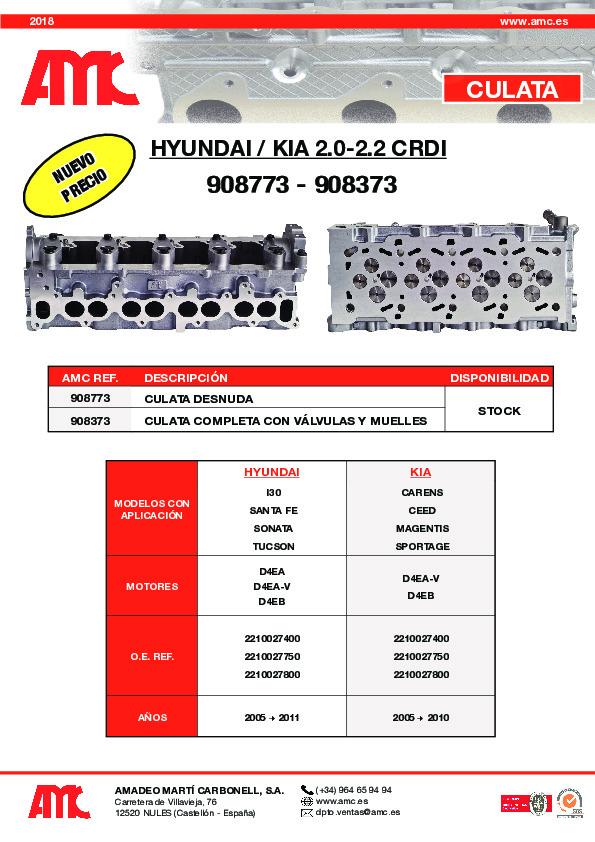 Culata Hyundai 2.0/2.2 CRDI