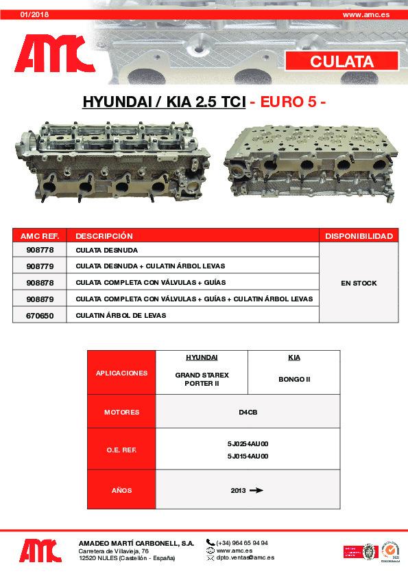 Culata Hyundai 2.5 TCI