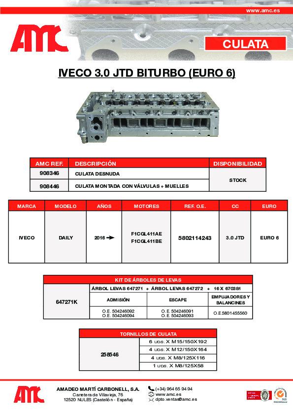Culata Iveco 3.0 JTD Biturbo