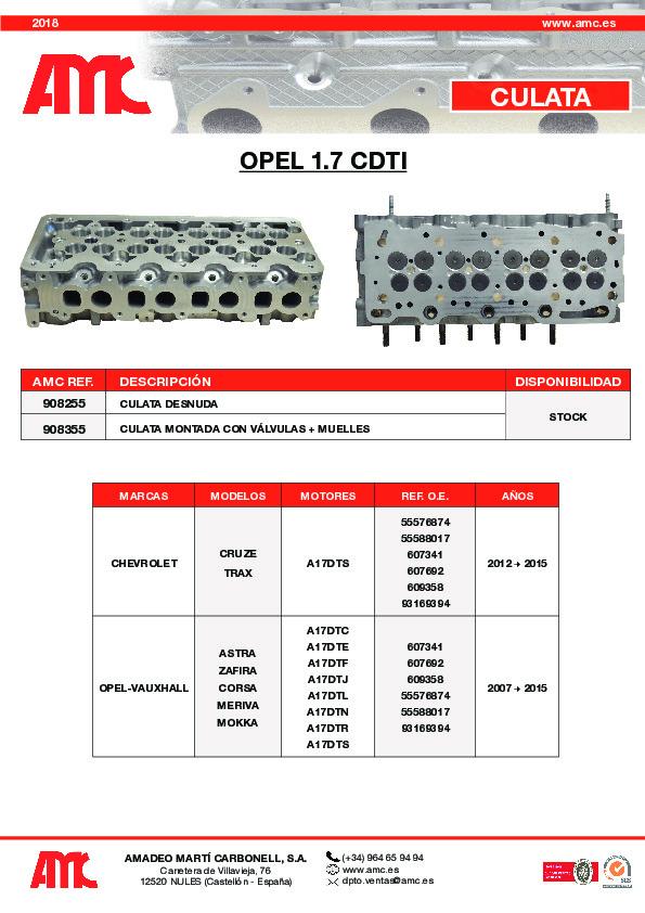 Culata Opel 1.7 CDTI
