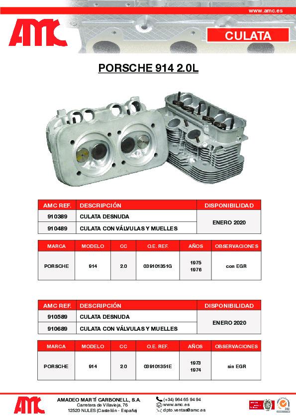 Culata Porsche 2.0