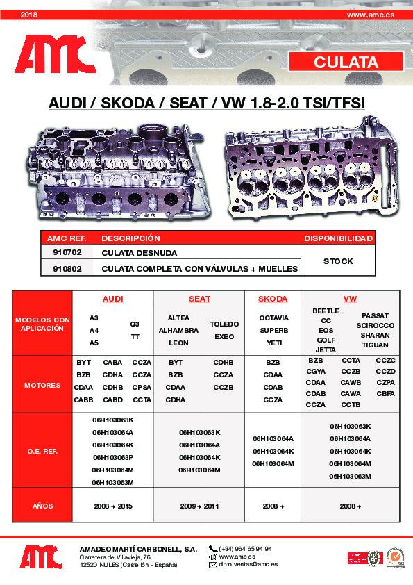 Culata VW 1.8/2.0 TSI/TFSI