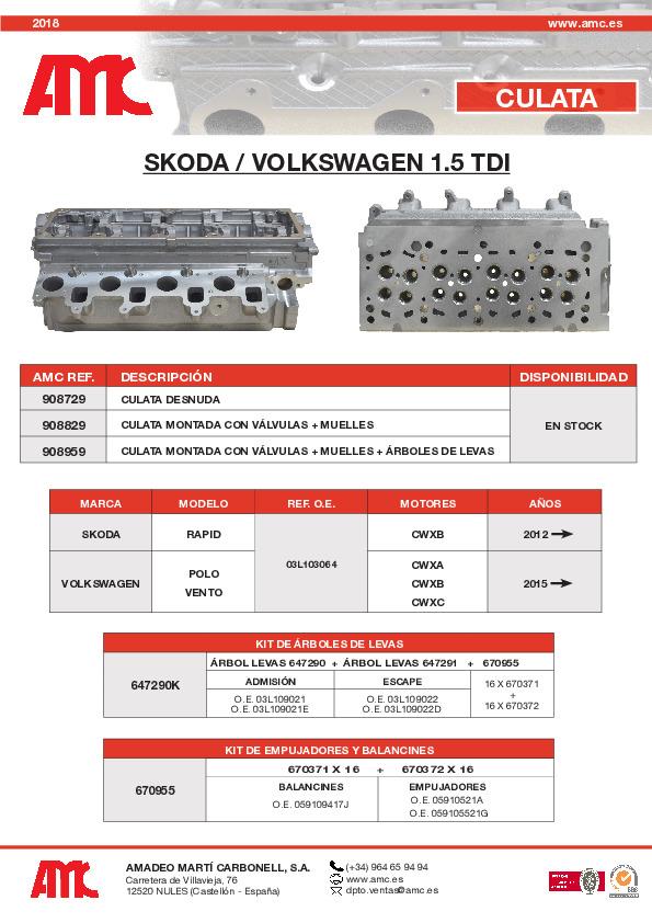 Culata VW 1.5 TDI