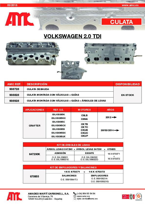Culata VW 2.0 TDI